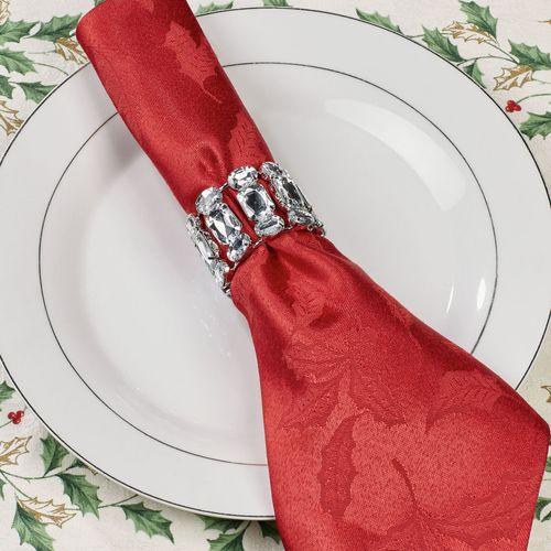 Empress Napkin Rings Silver Set of Four