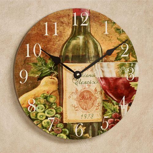 Chianti Classico Wall Clock Multi Warm