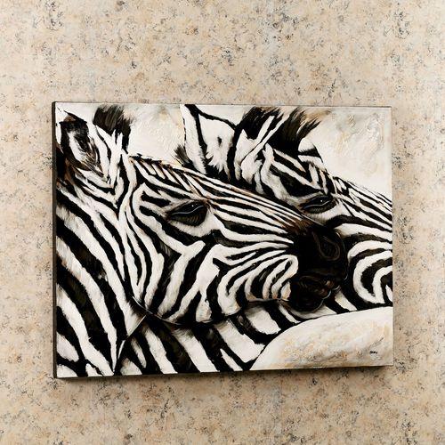 Zebra Duo Canvas Art