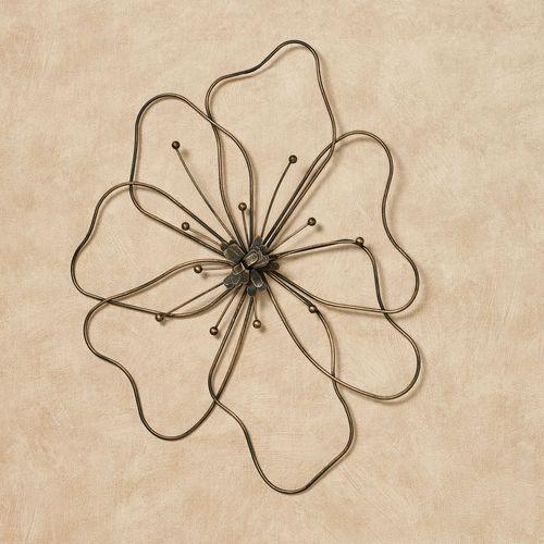 Poppy Flower Indoor Outdoor Metal Wall Art