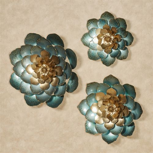 Aralynn Floral Wall Accents Gold Set of Three