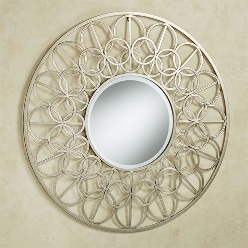 Gillian Mirrored Wall Art Champagne Gold