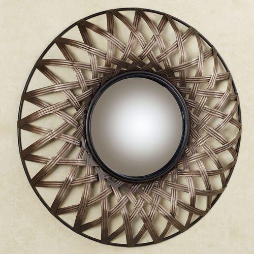 Stark Mirrored Wall Art Beige Brown