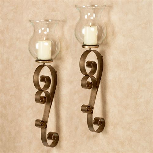 Bradock Wall Sconces Antique Gold Pair