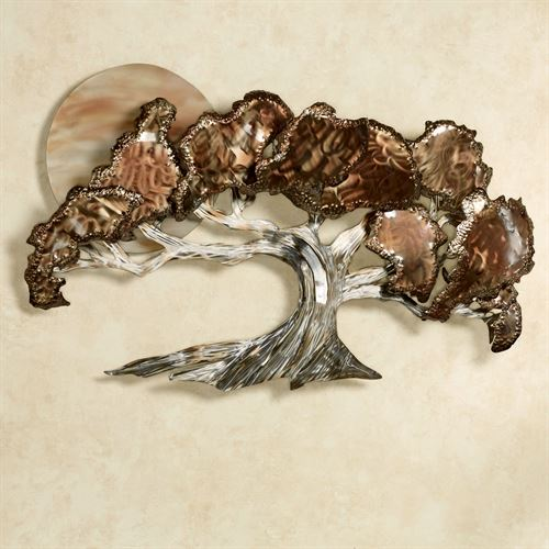 Evening Shadows Wall Sculpture Multi Metallic