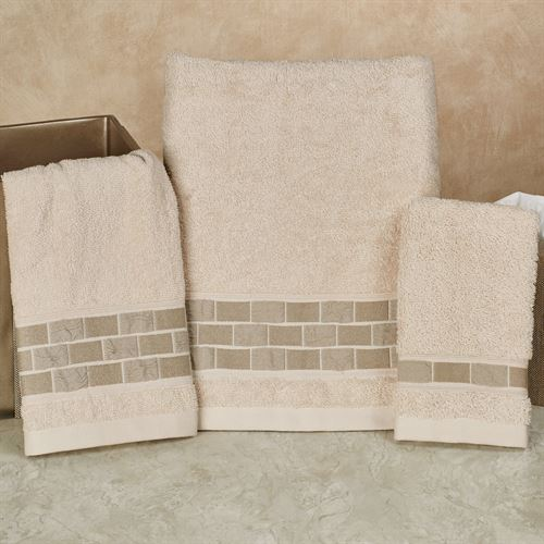 Birmingham Bath Towel Set Ecru Bath Hand Fingertip