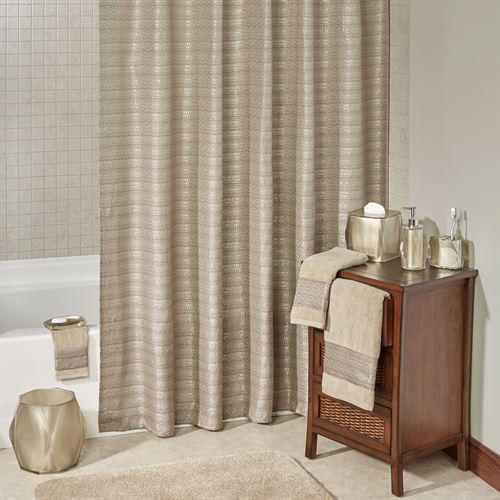 Fiore Shower Curtain Light Taupe 70 x 72