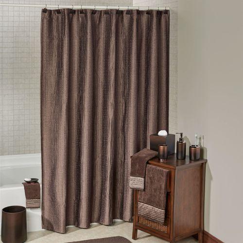 Veruka Bronze Shower Curtain with Liner