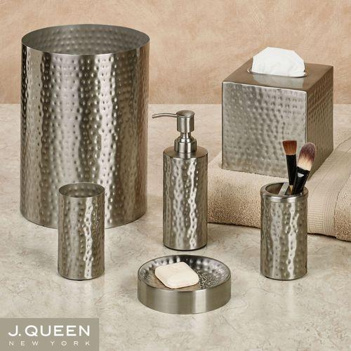 Pressed Metal Lotion Soap Dispenser Silver