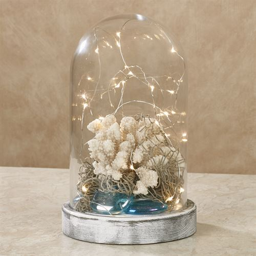 Elowen Lighted Glass Dome Accent Whitewash