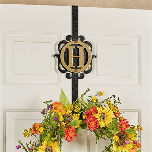 Overture Monogram Wreath Hanger Gold/Black