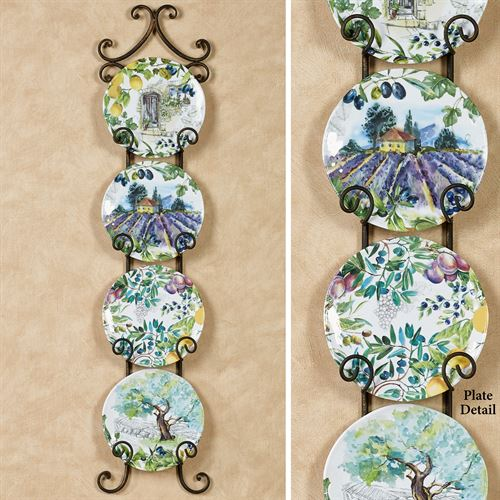 Campagna Accent Plates Multi Cool Set of Four