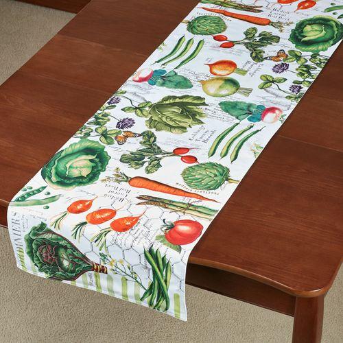 Vegetable Kingdom Table Runner Multi Warm 16.5 x 60