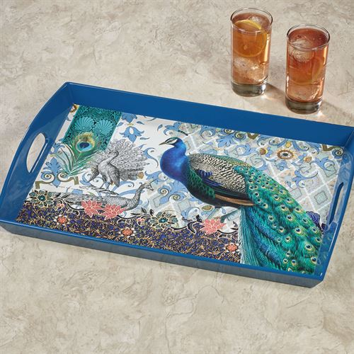 Bohemia Peacock Serving Tray Multi Jewel