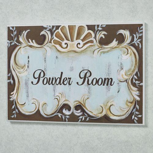 Emelia Powder Room Wall Plaque Multi Cool