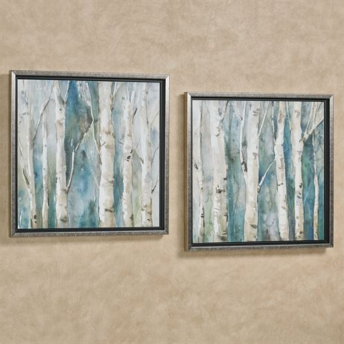 River Birch Tree Framed Wall Art Set