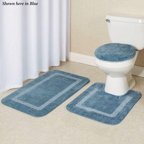 Gray Washable Bathroom Accent Rug 24, Bathroom Accent Rugs