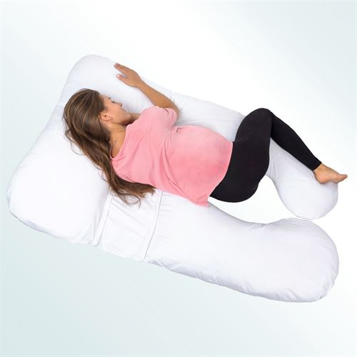 U Shape Body Pillow White