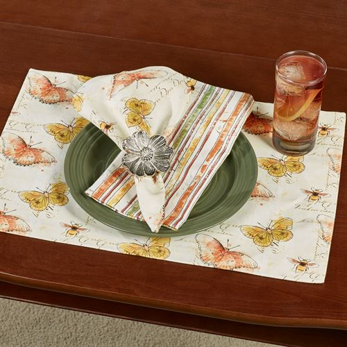 Butterfly Placemats Multi Warm Set of Four