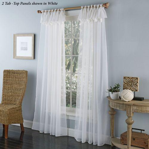 Thalia Semi Sheer Tab Top Curtain Panel
