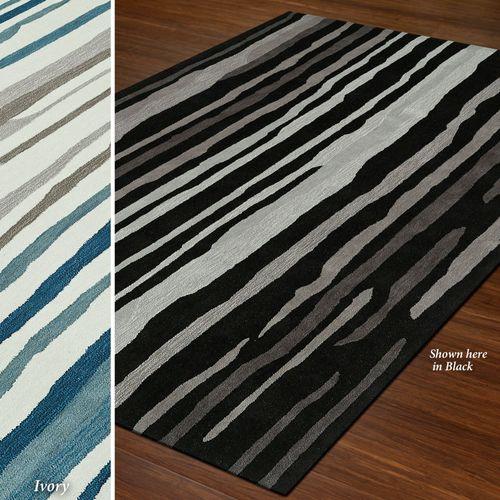Brushed Stripes Rectangle Rug
