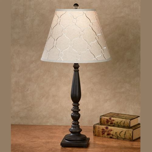 Leopold antique black spindle style wood table lamp leopold table lamp antique black aloadofball Images