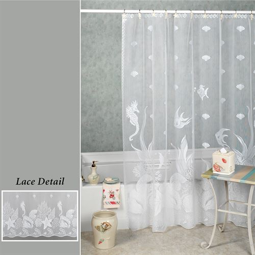 Seascape Shower Curtain  72 x 72