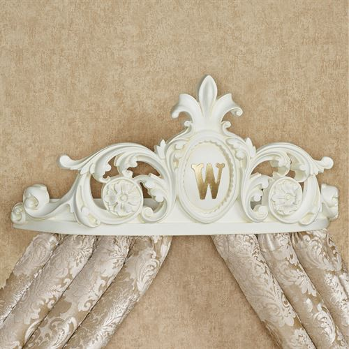 Genevieve Monogrammed Wall Teester Antique White