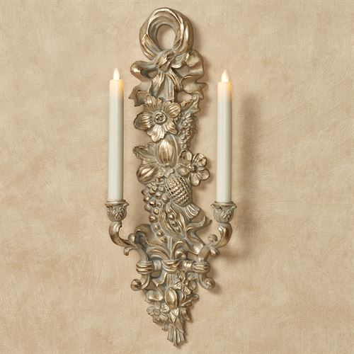 Floral Harvest Wall Sconce Gold