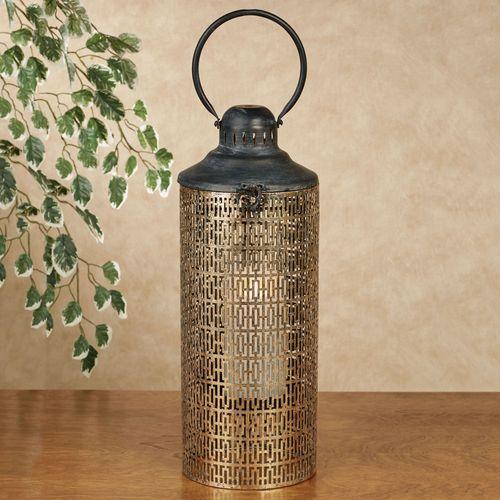 Radiant Lantern Candleholder Aged Gold