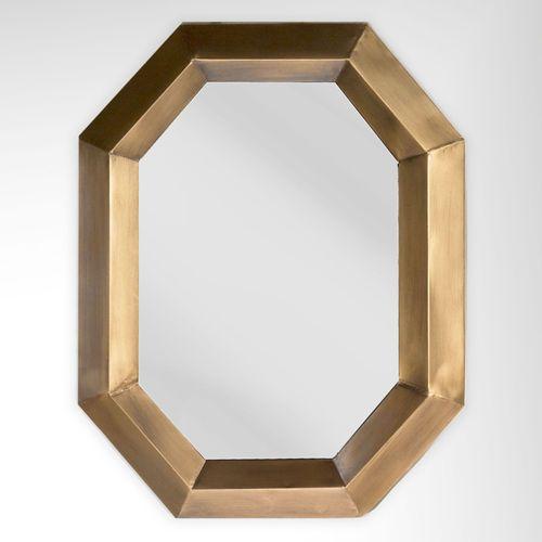 Jaetyn Octagonal Wall Mirror Antique Gold