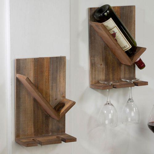 Wine Cellar Wall Racks Natural Set of Two