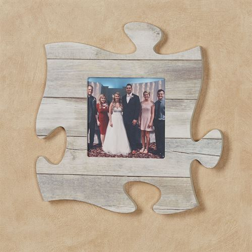 Weathered White Photo Frame Puzzle Piece