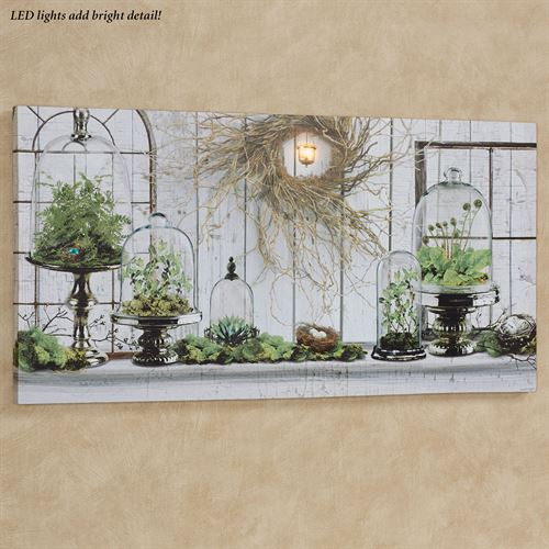 Cloches Lighted Canvas Wall Art Multi Cool