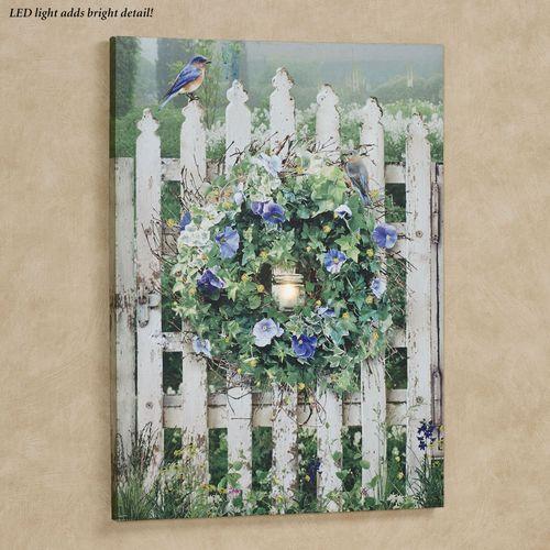 Garden Gate Lighted Canvas Wall Art Multi Cool