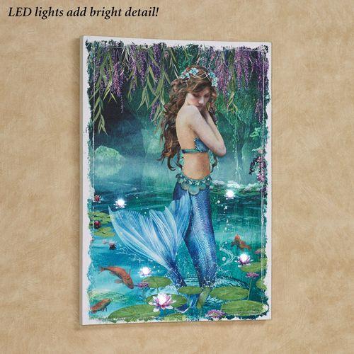 Mermaid Lagoon Lighted Canvas Wall Art Multi Bright