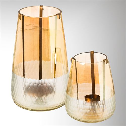 Gold Luster Candleholders Set of Two