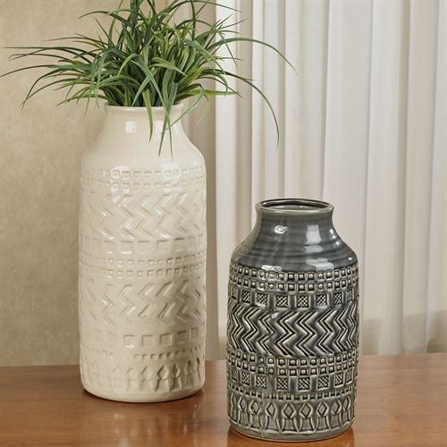 Atticus Table Vases Black/Ivory Set of Two
