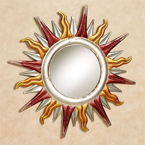 Sun Mirrored Wall Art Multi Earth