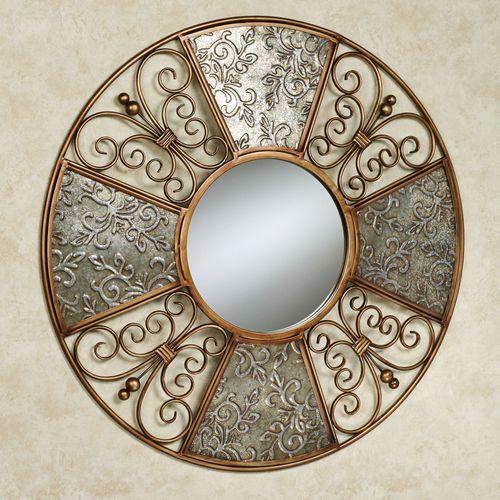 Diletta Mirrored Wall Art Multi Metallic