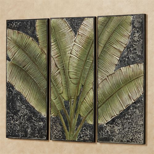 Tranquil Moment Triptych Wall Art Green Set of Three