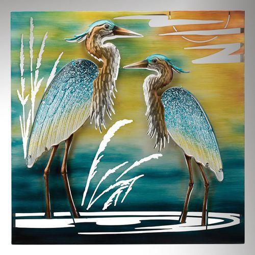 Heron Duo Wall Art Multi Earth