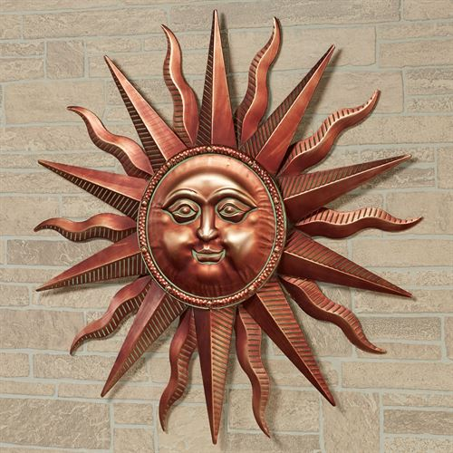 Sun Wall Art Sculpture Copper
