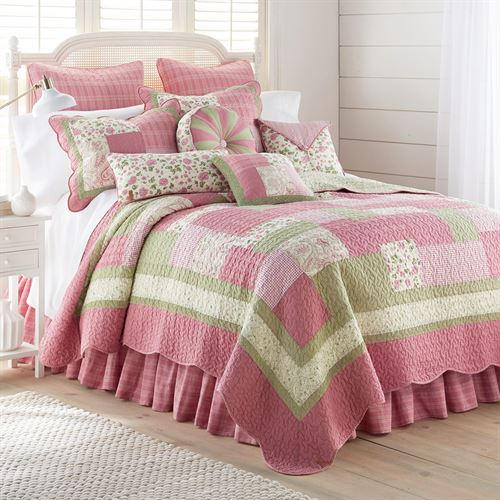 Bashful Rose Patchwork Quilt Multi Bright