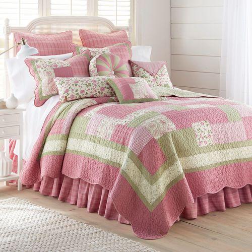 Bashful Rose Patchwork Quilt Multi Bright