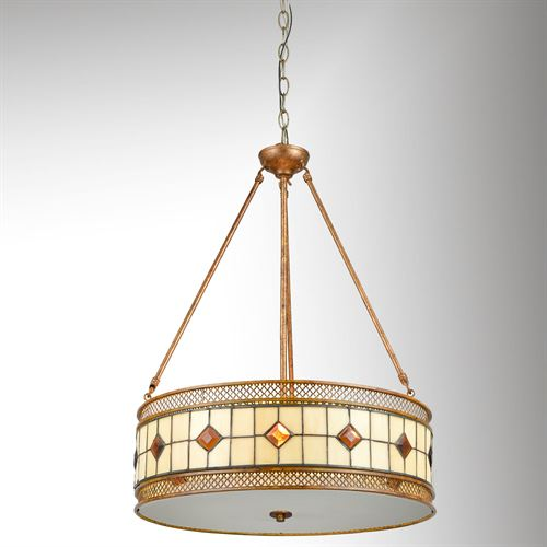 Minerals Tiffany Pendant Light Light Bronze