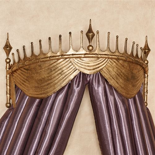 Liberty Bed Crown Wall Teester Antique Gold