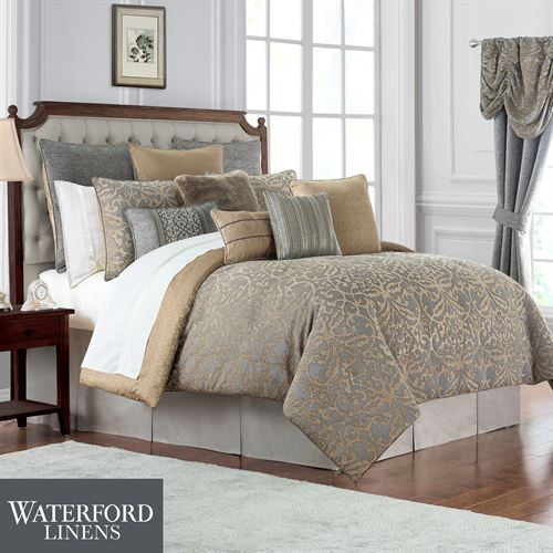 Carrick Comforter Set Antique Gold