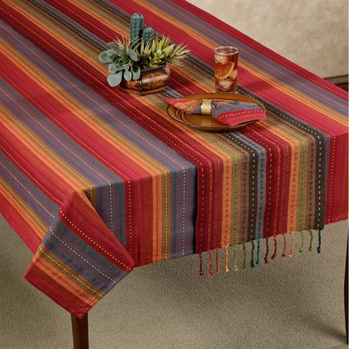 Phoenix Oblong Tablecloth Multi Bright