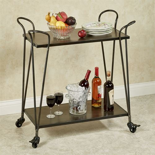 Brea Serving Cart Taupe